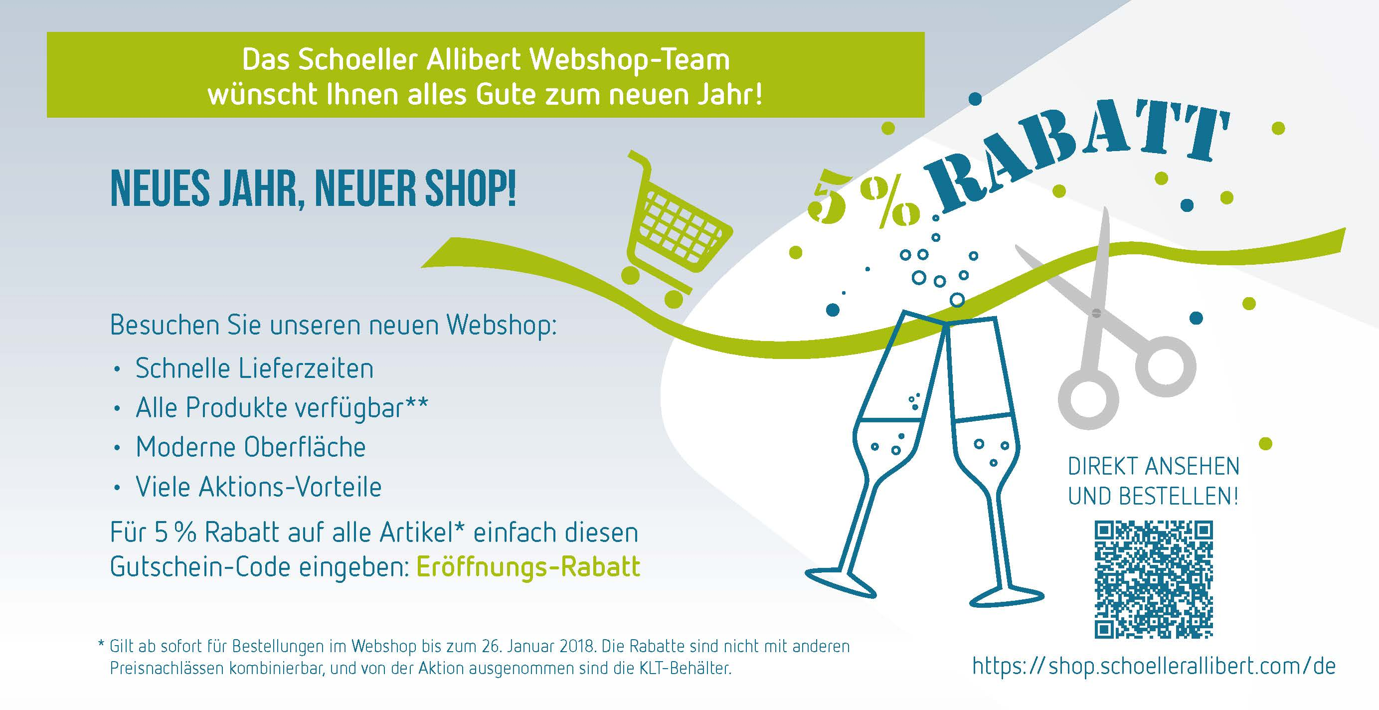 Neu in 2018: der Schoeller Allibert-Webshop
